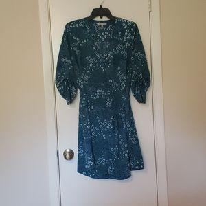 Teel base, floral v-neck shirt dress